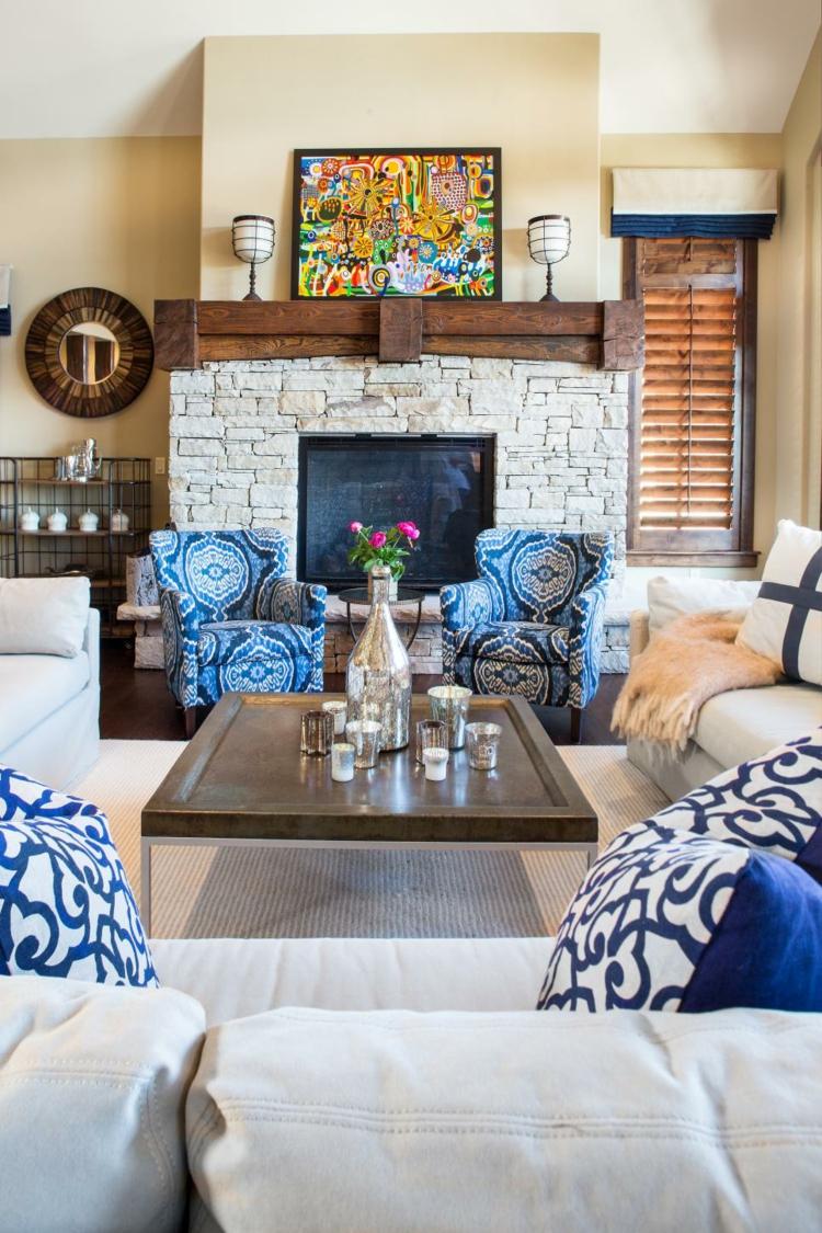 colorido casa central leña decorado cuadros