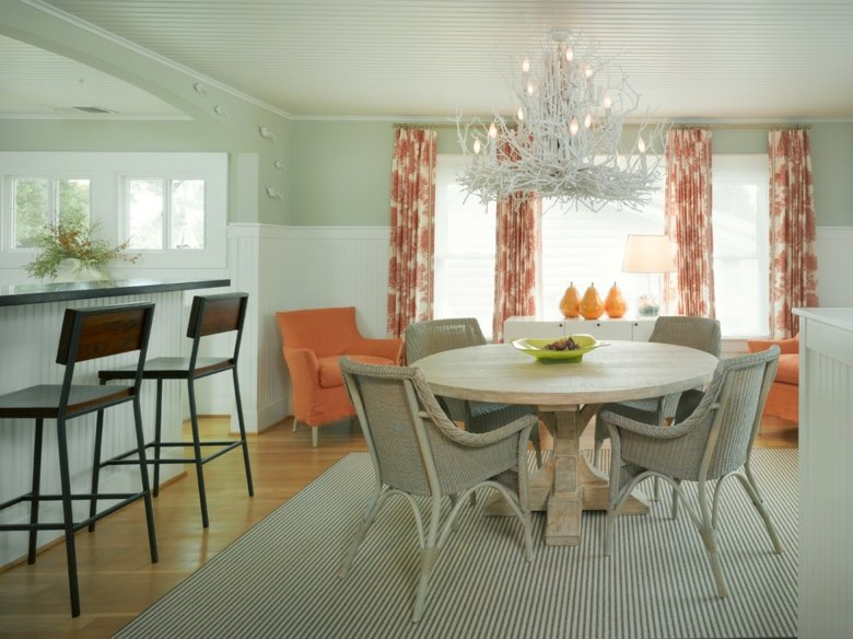 Cortinas de sala y comedor colores y estampados for Cortinas para salon comedor