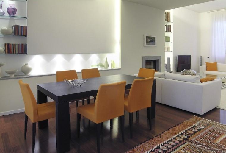 Comedores de dise o inspirador elegante y moderno for Sillas amarillas comedor