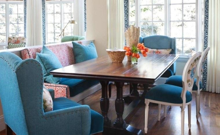 comedor sillon azul acogedor precioso ideas