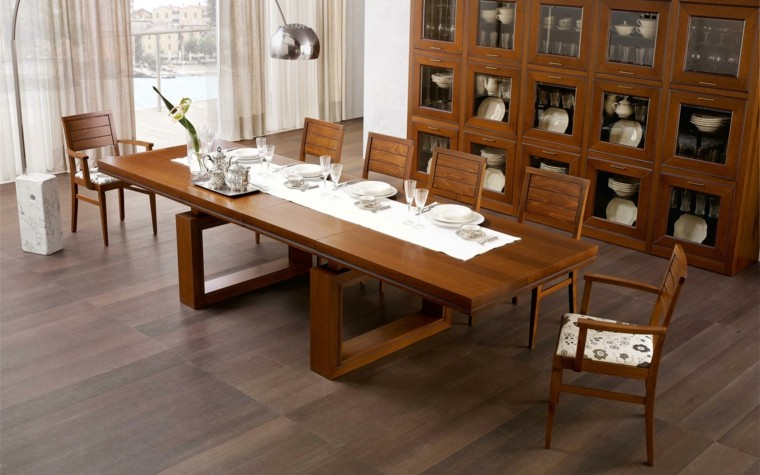 Comedores modernos y elegantes cheap comedor elegate with for Mesa comedor clasica