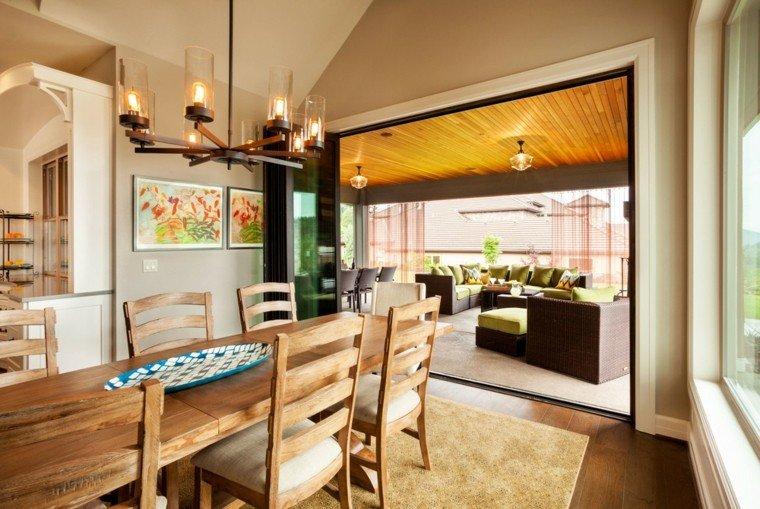 comedores de diseño mesa madera sillas ideas