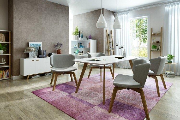 comedores modernos alfombras maderas grises