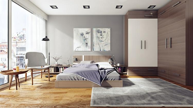 como decorar tu habitacion grises armarios