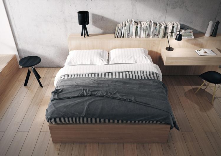 como decorar tu habitacion negro maderas lamparas