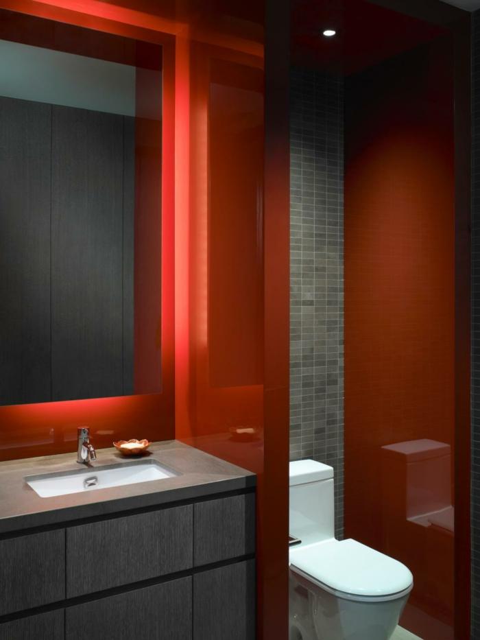 como decorar un baño pequeño y sencillo oscuro color
