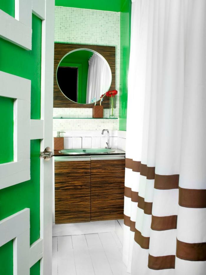 como decorar un baño pequeño y sencillo verdes cortinas