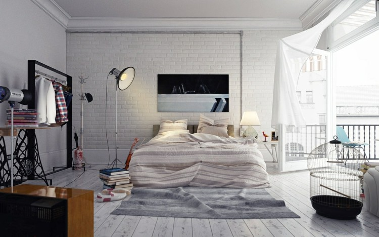 como decorar un dormitorio jaulas focos