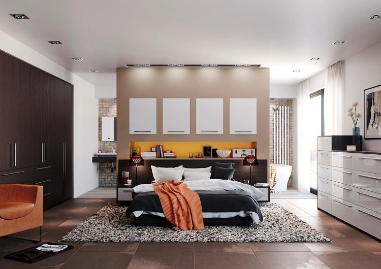 como decorar un dormitorio naranja detalles naranja