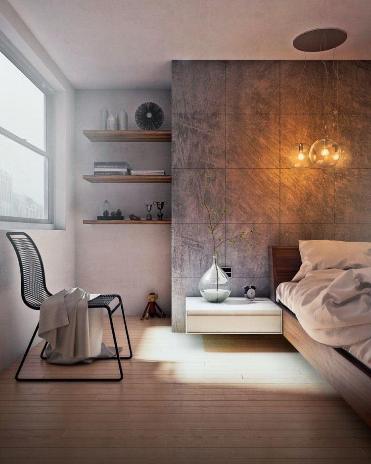 como decorar un dormitorio relojes ramas sillas