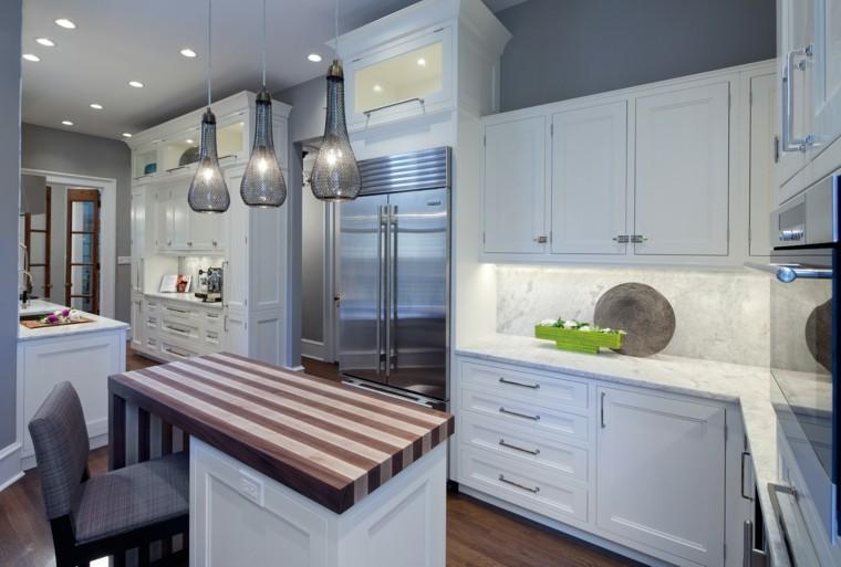 como decorar una cocina amplia dos islas ideas