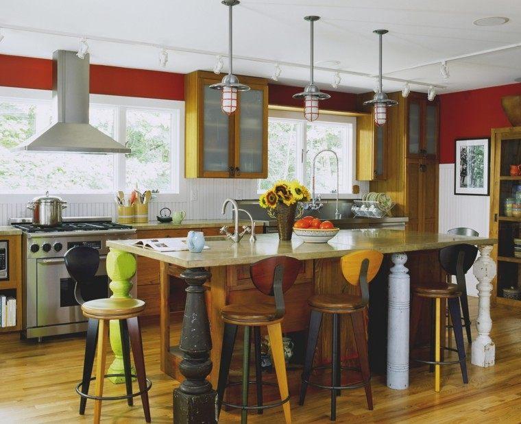 como decorar una cocina diseno estilo rustico ideas