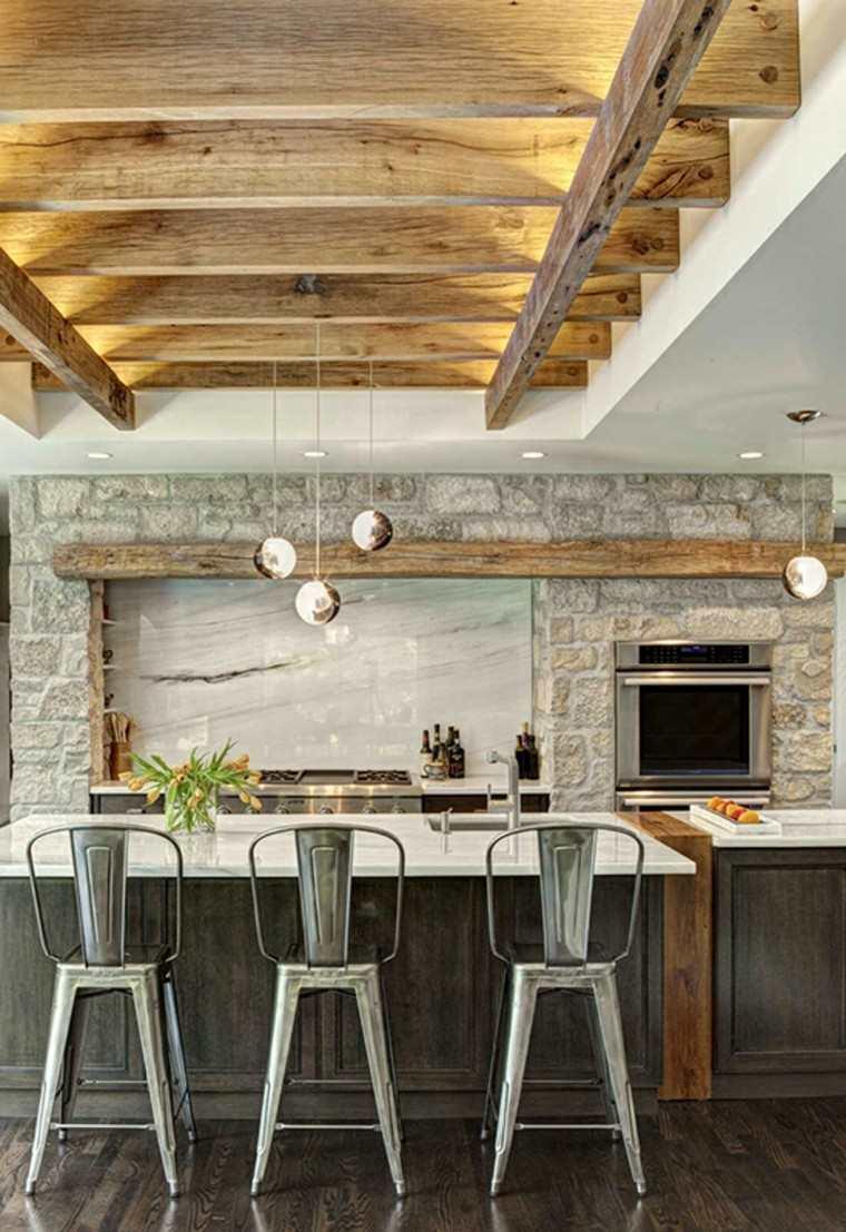 como decorar una cocina diseno rustico ideas