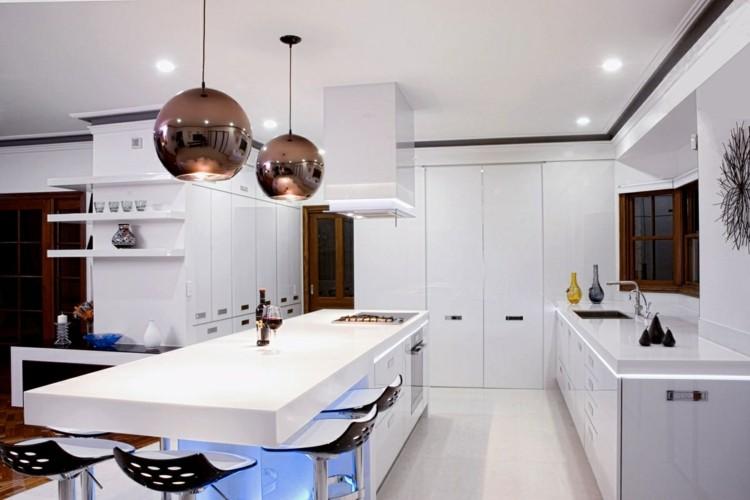 como decorar una cocina fresca contemporanea elegante
