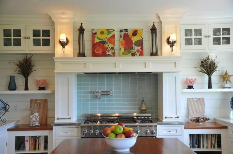 como decorar una cocina fresca frutas ventanas