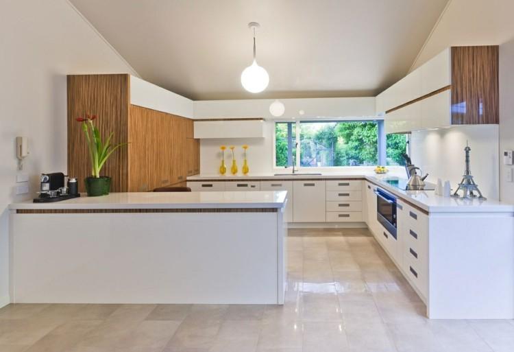 como decorar una cocina fresca luminosa plantas