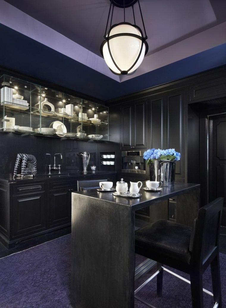 como decorar cocina totalmente negra ideas