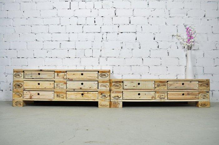 Palet de madera para decorar su hogar 100 ideas - Comodas originales ...