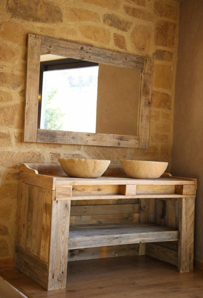 muebles baño pallet madera