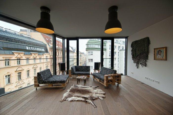 conjunto sillones salón madera