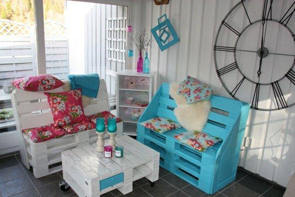 conjunto muebles terraza palets