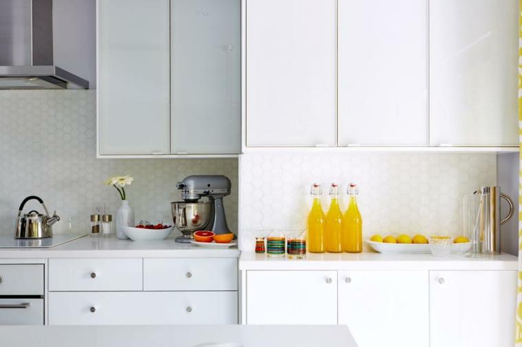 contemporanea detalles cocinas colorida blanco