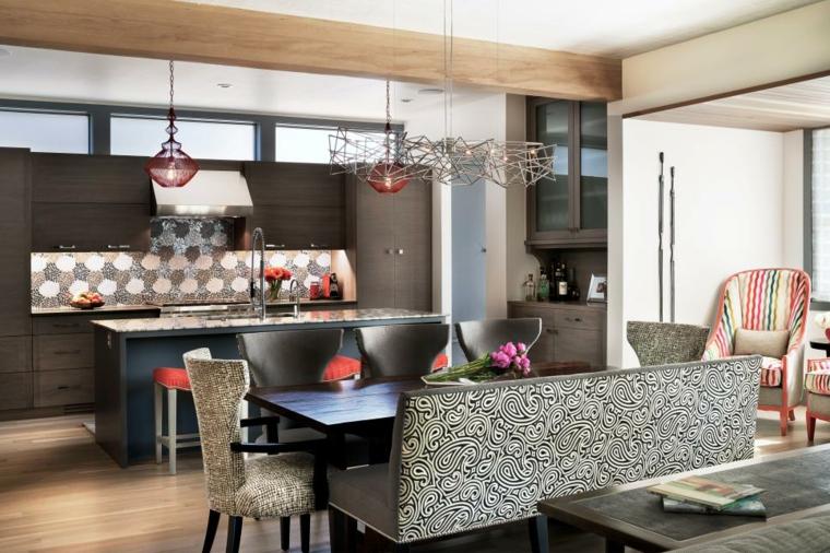 contemporanea detalles cocinas metales maderas