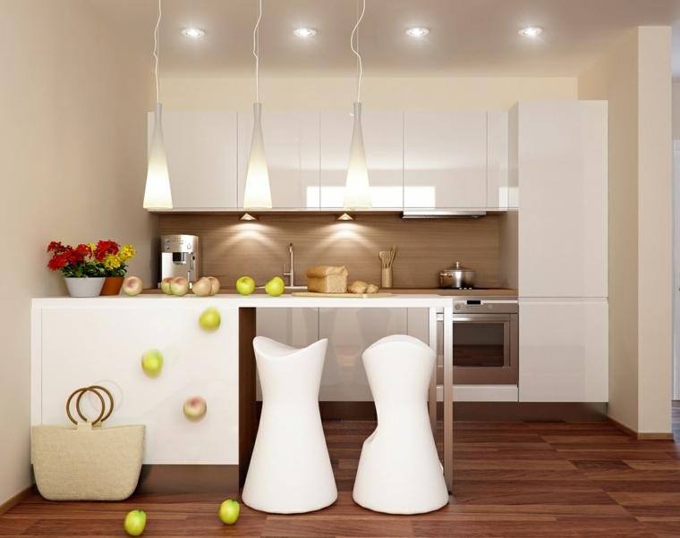 contemporanea detalles cocinas salones flores led