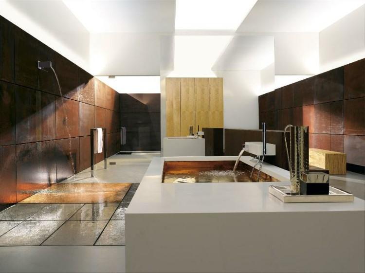 cuartos de baño modernos metales canales ducha maderas