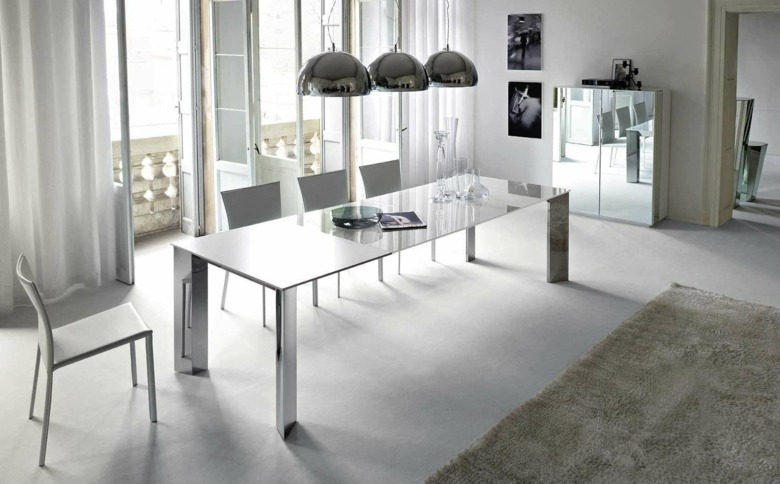 cortinas de sala y comedor blancas modernas