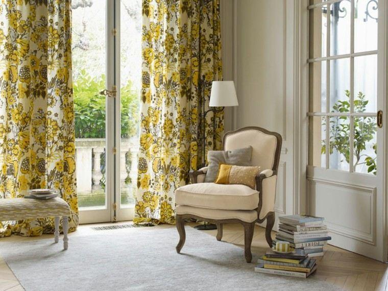 cortinas de salon opciones diseno amarillo ideas