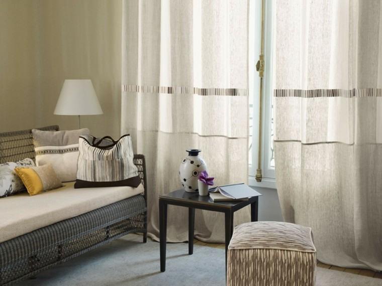 cortinas de salon opciones diseno blanco precioso ideas