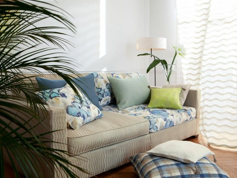 cortinas de salon opciones diseno color blanco ideas