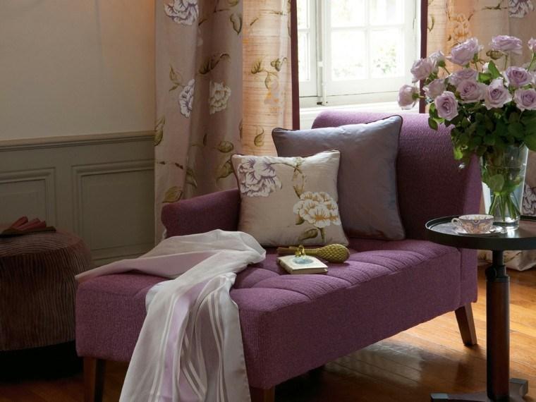 cortinas salon opciones diseno flores preciosas ideas