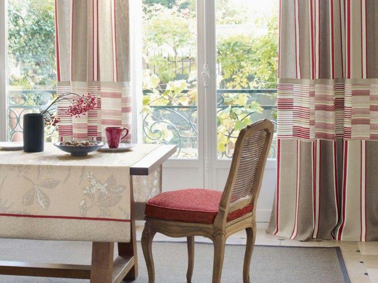 cortinas salon opciones diseno silla mesa ideas