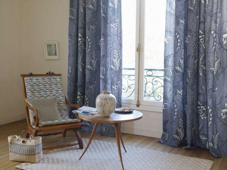 cortinas salon opciones diseno sillon mesita ideas