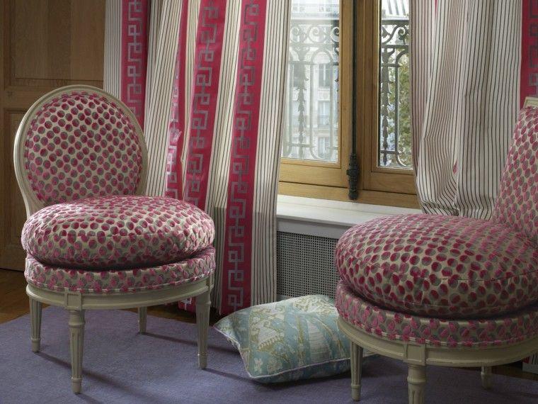 cortinas salon opciones diseno sillones mismo color idea
