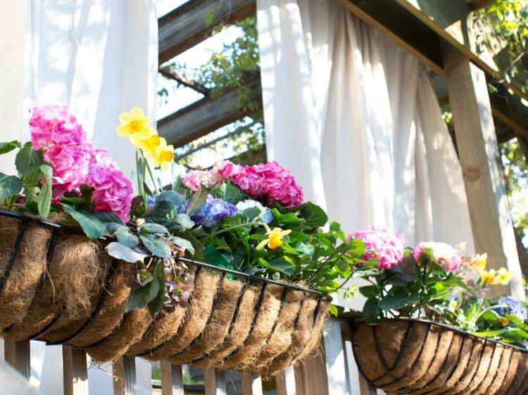 cortinas decorado flores idea lino