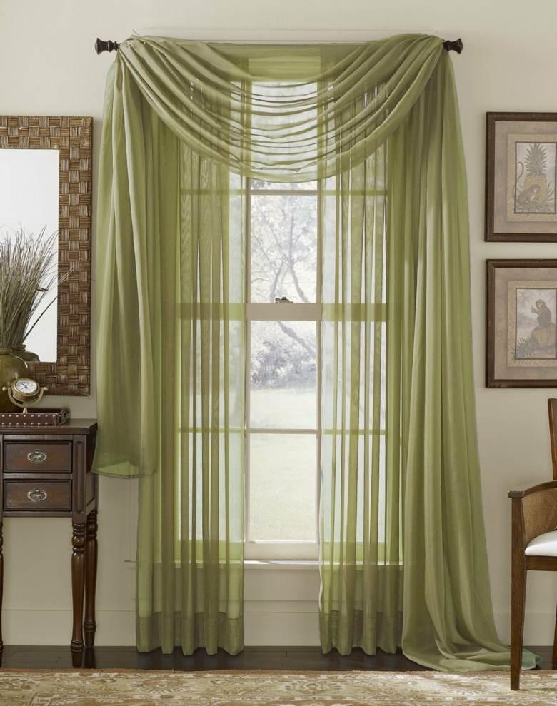 cortinas gasa color verde deco