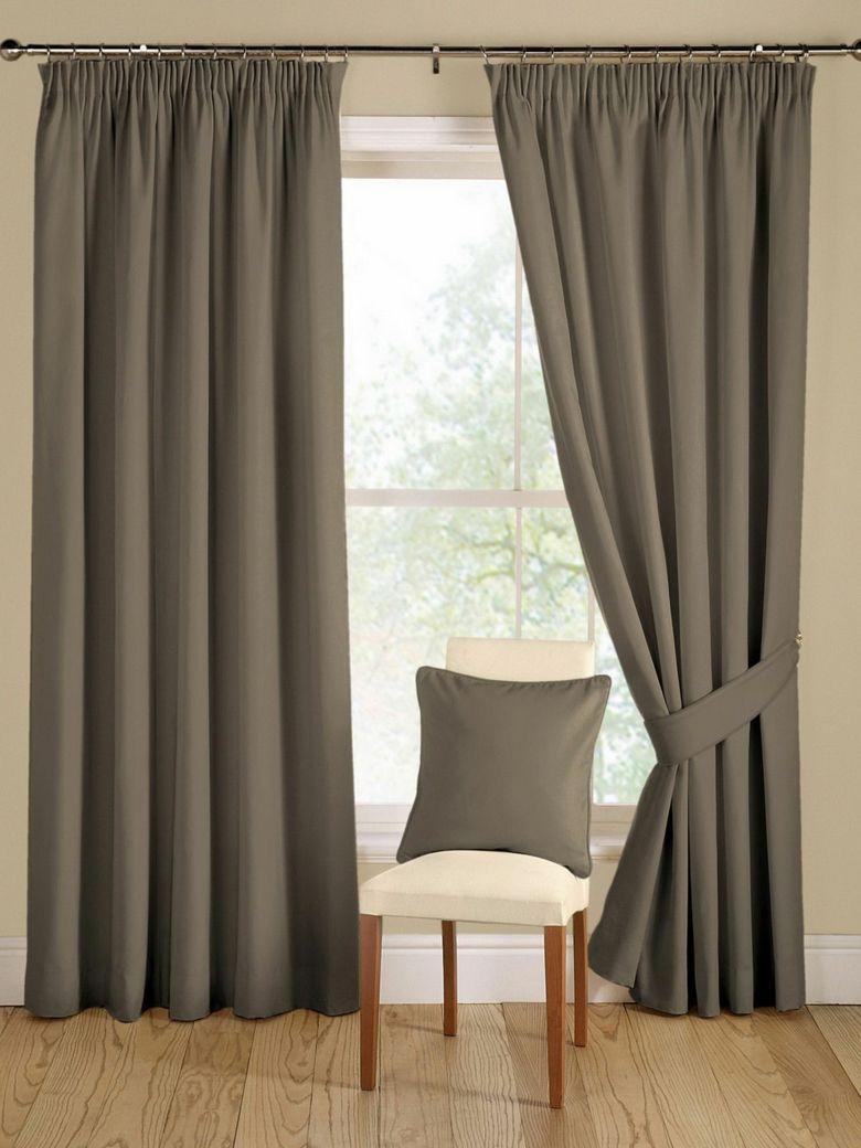 cortinas lisas color gris opacas