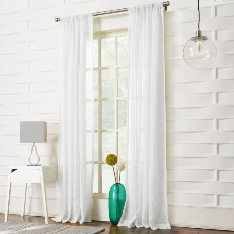 cortinas lisas color blanco
