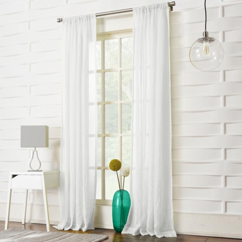 Cortinas de sala y comedor colores y estampados for Cortinas en blanco