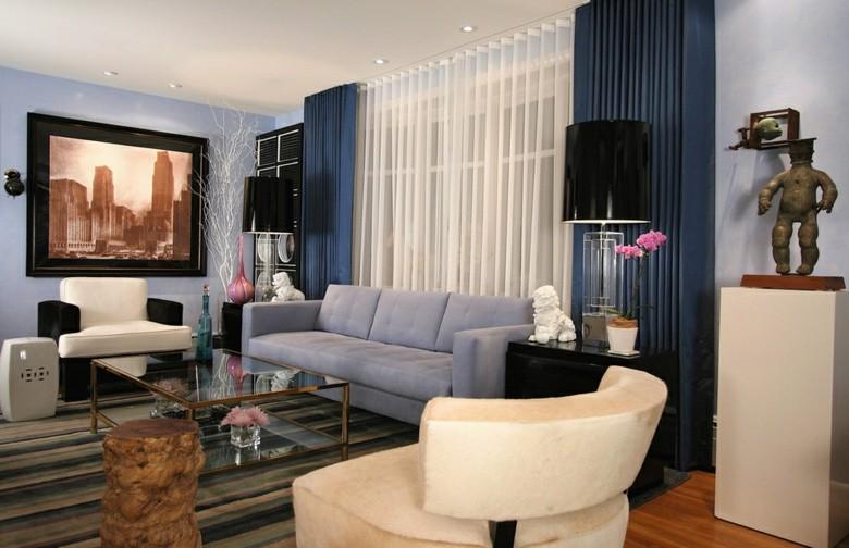 Cortinas de sala y comedor colores y estampados for Cortinas para salon gris