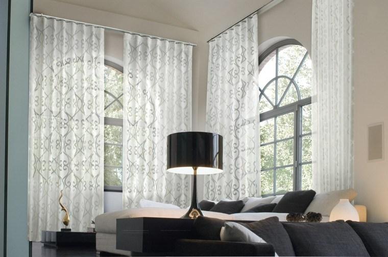 Cortinas de salon 39 opciones elegantes y sofisticadas for Cortinas lisas para salon
