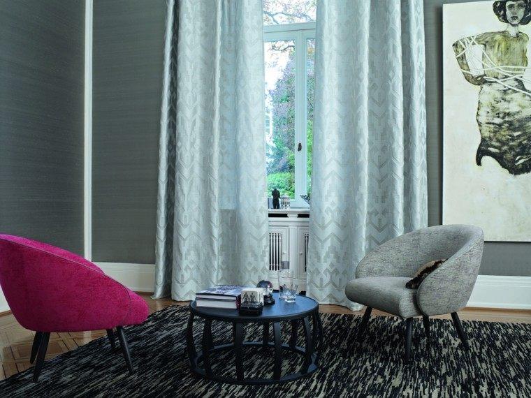 cortinas salon opciones diseno color claro ideas