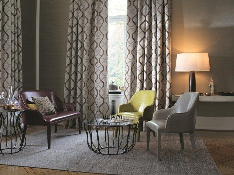 cortinas salon opciones diseno preciosos muebles ideas