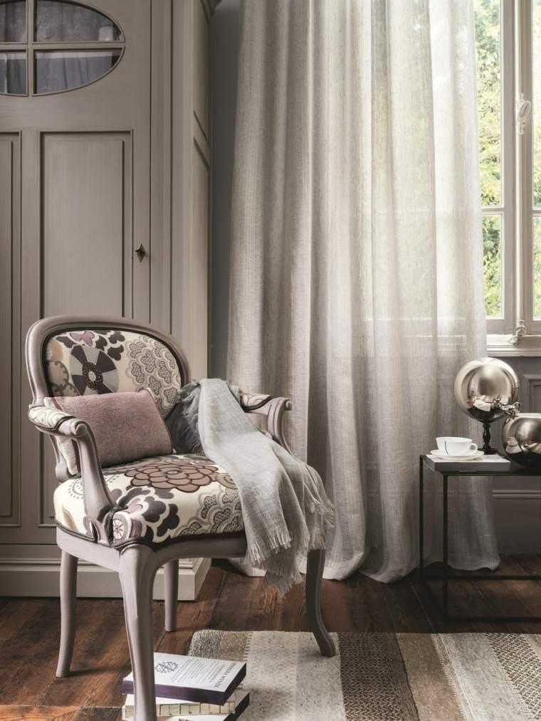cortinas salon opciones diseno silla mismo color ideas