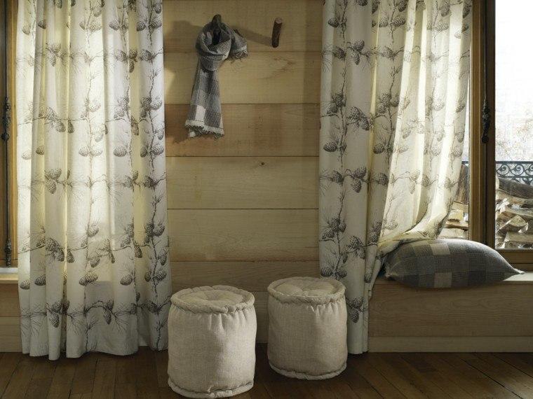 cortinas salon opciones diseno taburetes ideas