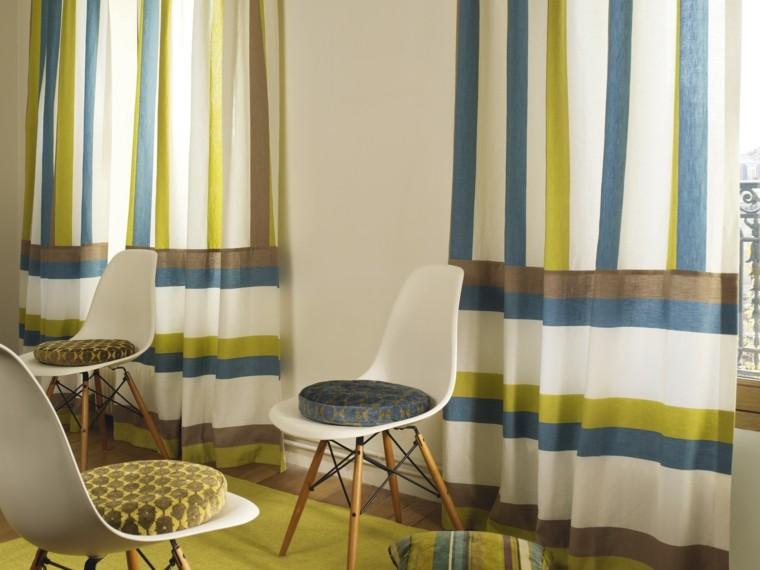 cortinas salon opciones diseno varios colores ideas