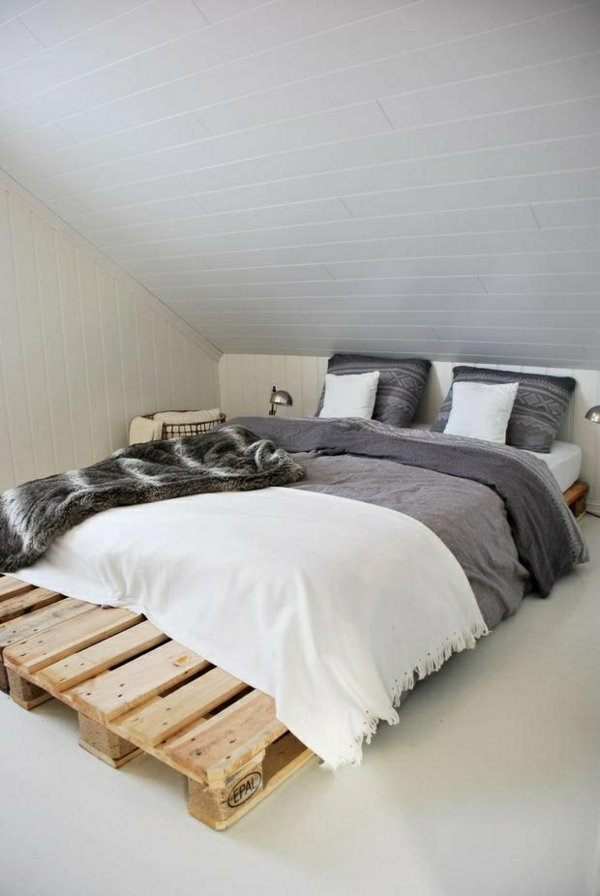 cama moderna minimalista palet